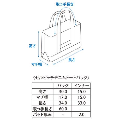 セルビッチデニムトートバッグ【リジッド】