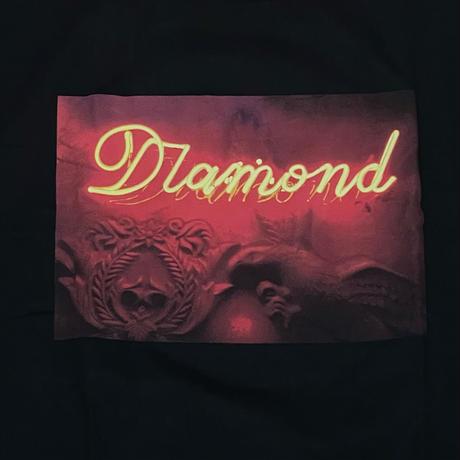 【4XL】米国製  ダイヤモンドサプライ Diamond Supply Co. 半袖 Tシャツ 黒 ネオンサイン Neon (T23)
