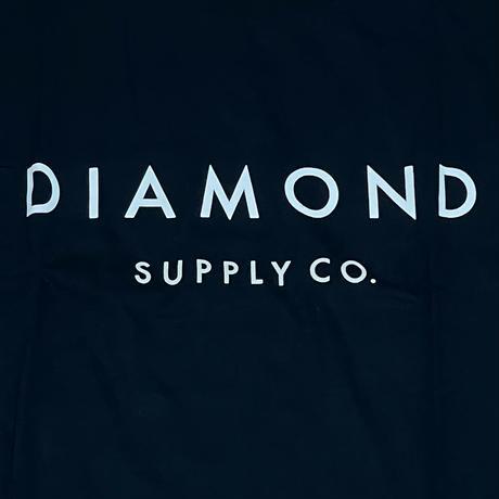 【4XL】 米国製 ダイヤモンドサプライ Diamond Supply Co. 半袖 Tシャツ 紺 Yacht ベーシックロゴ (T7)