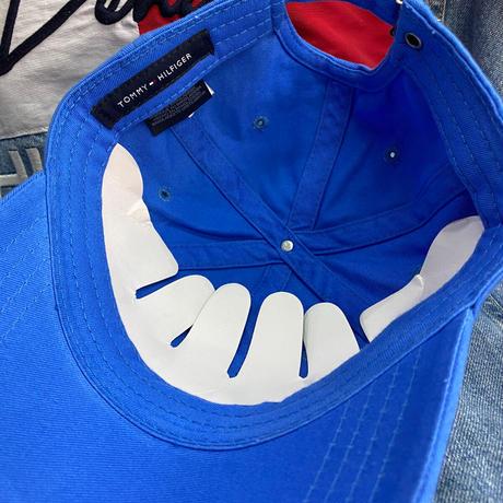 トミーヒルフィガー TOMMY HILFIGER ストラップバック キャップ 帽子 ローキャップ 空色 クラシックロゴ サイズ調節可