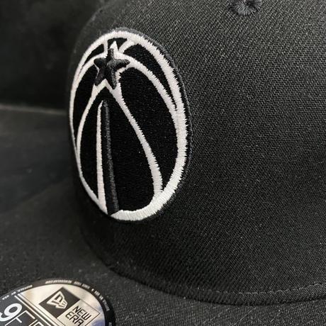 USA正規品 Newera ニューエラ Wizards ワシントン ウィザーズ NBA スナップバック キャップ バスケ 黒 ブラック 9FIFTY サイズ調節可