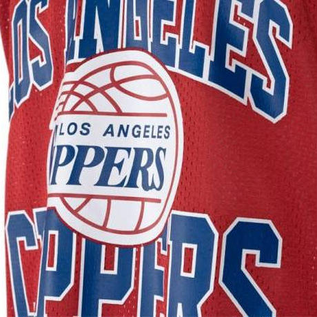 Mitchell&Ness ミッチェル&ネス NBA メッシュタンクトップ 赤 ロサンゼルス LA クリッパーズ CLIPPERS バスケット