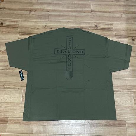 【4XL】  ダイヤモンドサプライ Diamond Supply Co. 半袖 Tシャツ ミリタリーグリーン 十字架ロゴ (T21)
