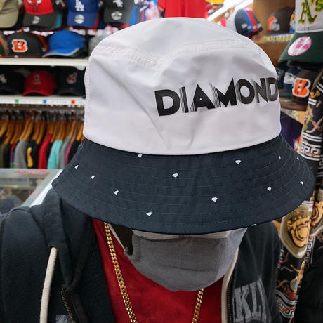 Diamond Supply Co. ダイヤモンドサプライ DECO BUCKET HAT バケットハット 白 紺 ダイヤドット