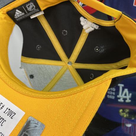 Adidas アディダス NHL ピッツバーグ ペンギンズ スナップバックキャップ アイスホッケー 黒/黄