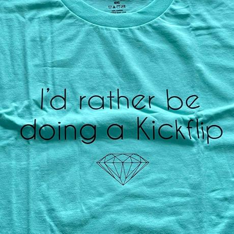 【4XL】 米国製 ダイヤモンドサプライ Diamond Supply Co. 半袖 Tシャツ DMNDブルー Kick Flip (T11)