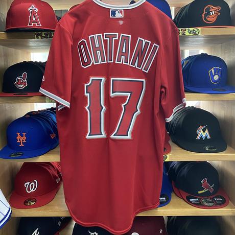 Majestic マジェスティック MLB 大谷翔平 #17 ロサンゼルス LA エンゼルス Angels レプリカユニフォーム 赤