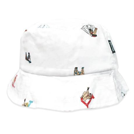 Diamond Supply Co. ダイヤモンドサプライ BUCKET HAT バケットハット ピンナップガール 白