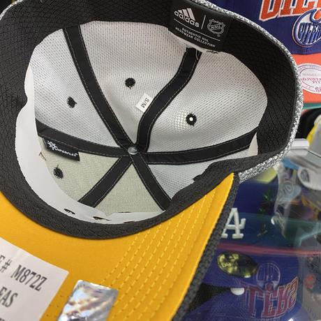 Adidas アディダス NHL ピッツバーグ ペンギンズ ストレッチキャップ アイスホッケー グレー/黒