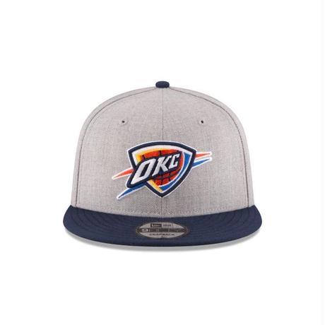 Newera ニューエラ OKC オクラホマシティ Thunder サンダー NBA グレー 紺 2トーン スナップバックキャップ バスケ 9FIFTY