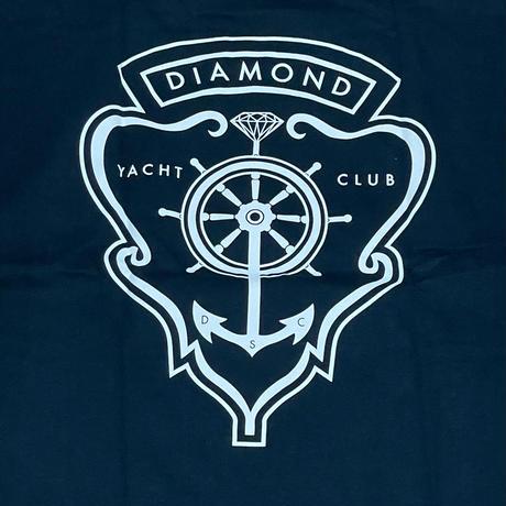 【4XL】米国製  ダイヤモンドサプライ Diamond Supply Co. 半袖 Tシャツ 紺 Yacht Crest 紋章 (T25)