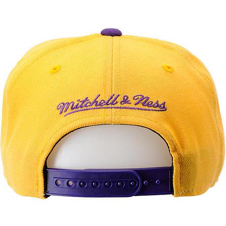Mitchell&Ness ミッチェル&ネス NBA ロサンゼルスLA レイカーズ Lakers 黄色×紫 USA正規品 スナップバック キャップ サイズ調節可 バスケット