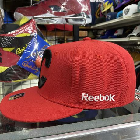 【S/M】 Reebok リーボック Flames カルガリー フレームス BIGロゴ NHL フレックスキャップ