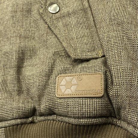 USA老舗ブランド SOUTH POLE サウスポール 中綿入り ウール Wool ボンバー パフジャケット 茶 グレンチェック NY スケーター HIPHOP