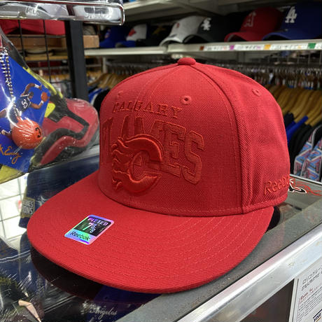 【7.3/8】 Reebok リーボック Flames カルガリー フレームス NHL キャップ 赤 アイスホッケー