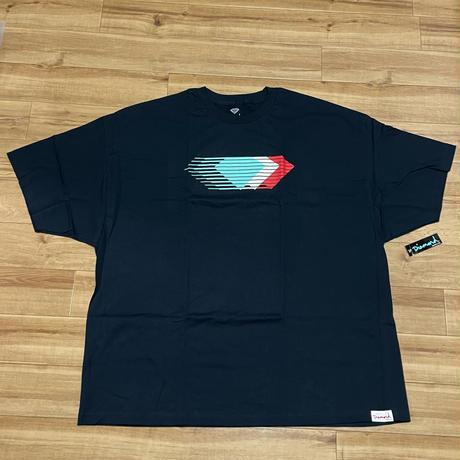 【4XL】 米国製 Diamond Supply Co. ダイヤモンドサプライ ACE 半袖 Overlap 紺 Tシャツ (T9)
