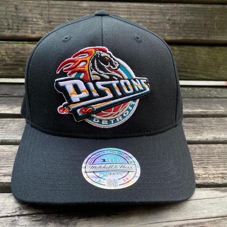 Mitchell&Ness ミッチェル&ネス NBA デトロイト Pistons ピストンズ FLEXFIT フレックスフィット スナップバックキャップ 黒