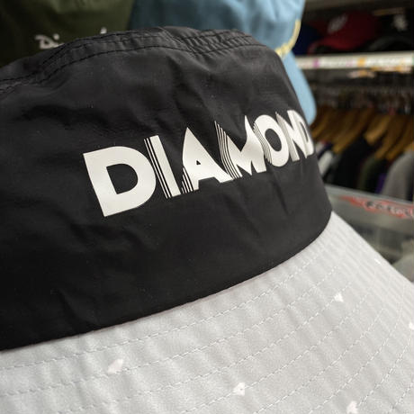 Diamond Supply Co. ダイヤモンドサプライ DECO BUCKET HAT バケットハット 黒 グレー ダイヤドット