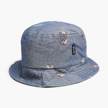 Diamond Supply Co. ダイヤモンドサプライ BUCKET HAT バケットハット ピンナップガール デニム