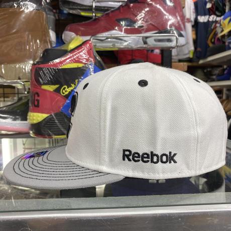 【7.3/8】 Reebok リーボック Flames カルガリー フレームス NHL キャップ 白 グレー アイスホッケー