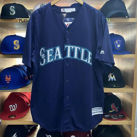 Majestic マジェスティック MLB イチロー #51 シアトル マリナーズ レプリカユニフォーム 紺