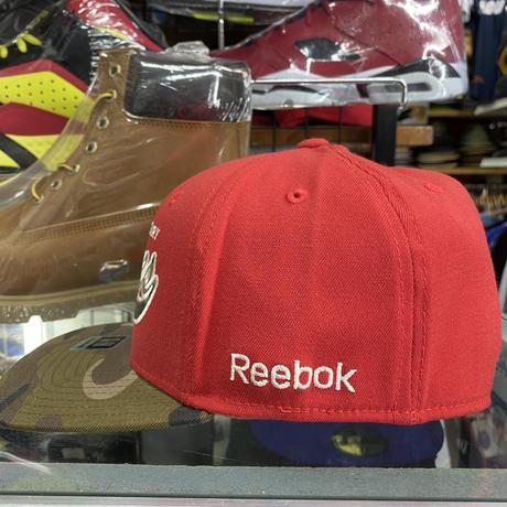 【S/M】 Reebok リーボック Flames カルガリー フレームス NHL フレックスキャップ 赤 迷彩