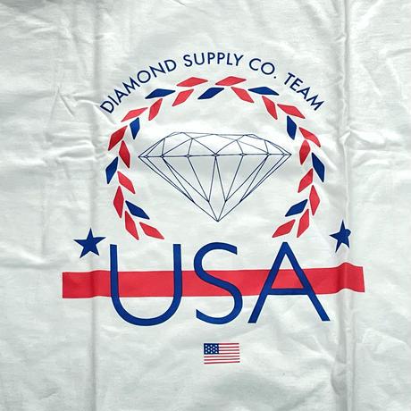 【4XL】 米国製 ダイヤモンドサプライ Diamond Supply Co. 半袖 Tシャツ 白 USA Team (T14)