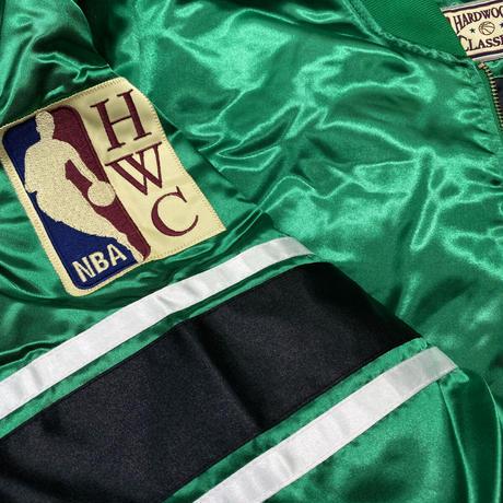 Mitchell&Ness ミッチェル&ネス NBA ボストンセルティックス HWC サテン スタジアムジャンパー
