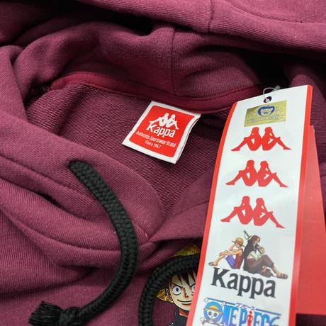 Kappa(カッパ) × ONEPIECE(ワンピース) コラボ プルオーバー パーカー Luffy ルフィ バーガンデ