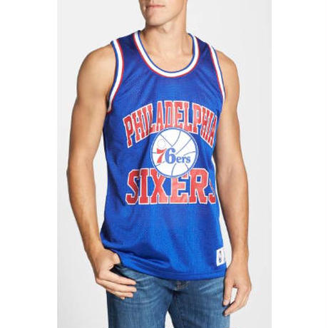 Mitchell&Ness ミッチェル&ネス NBA メッシュ タンクトップ 76ers シクサーズ 青 フィラデルフィア バスケ ユニフォーム