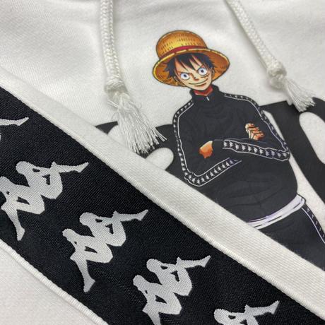 Kappa(カッパ) × ONEPIECE(ワンピース) コラボ プルオーバー パーカー Luffy ルフィ 白