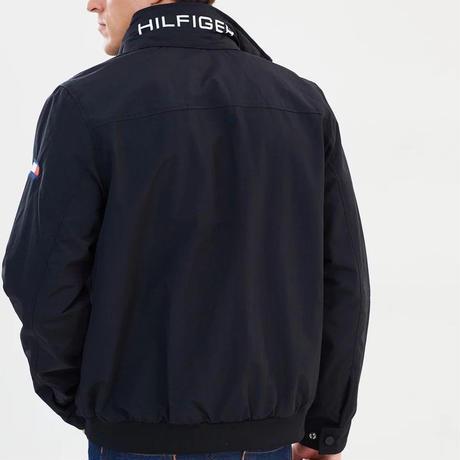 トミーヒルフィガー TOMMY HILFIGER ナイロン ヨットジャケット 撥水加工 ブラック