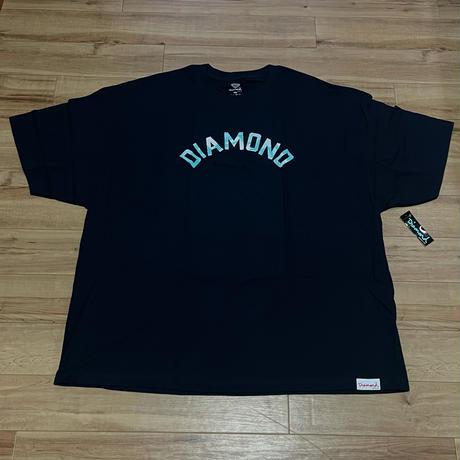 【4XL】 米国製 ダイヤモンドサプライ Diamond Supply Co. 半袖 Tシャツ 紺 Simplicity Archロゴ (T19)