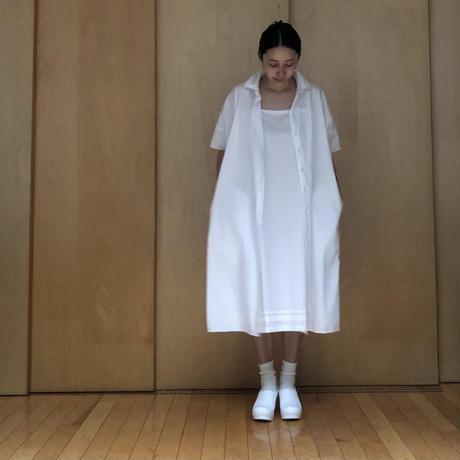 半袖シャツワンピース emily/ホワイト