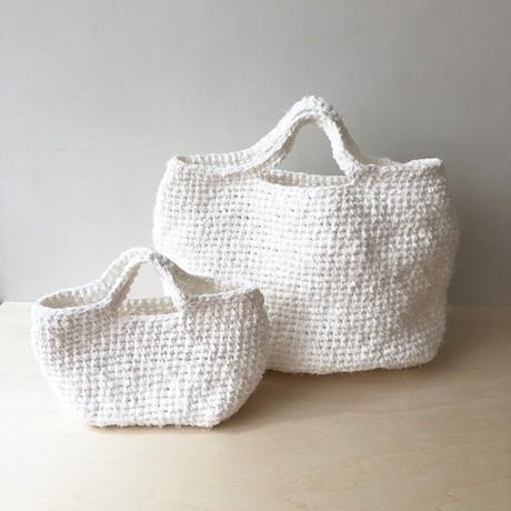 裂き布バッグ L