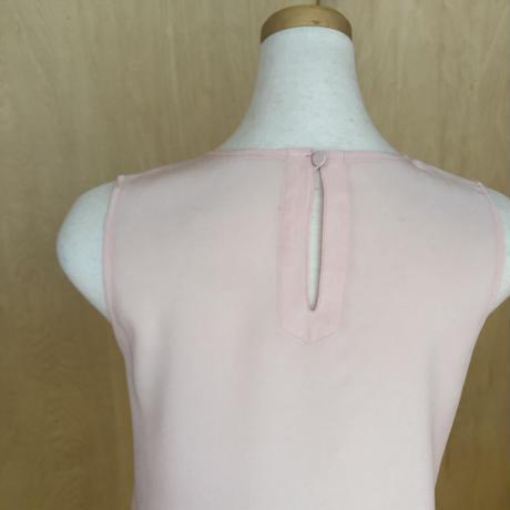 silk トップス pink