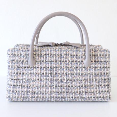 利休バッグ R_1043 / grey × cream fancy tweed