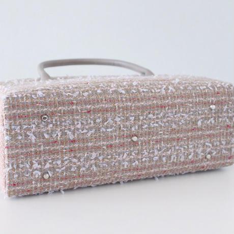 利休バッグ R_1022 / Beige Pink fancy tweed