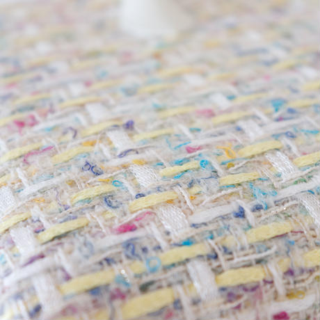 利休バッグ / Yellow fancy tweed / R_1071