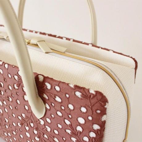 利休バッグ R_1035 /  brown lace