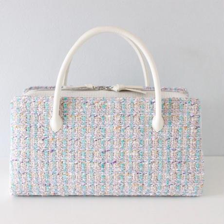 利休バッグ  R_1010 / Malhia kent tweed fabric