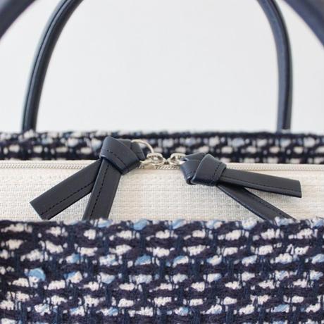 利休バッグ  R_1009 / linton tweed fabric
