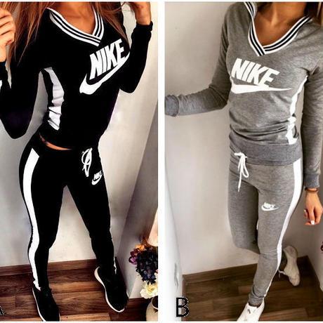 ナイキ Nike風長袖トレーナーセット セットアップ 美品 部屋着 Nike好きに 秋  秋物  秋服