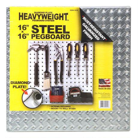 """HEAVYWEIGHT Steel Pegboard 16""""×16"""""""