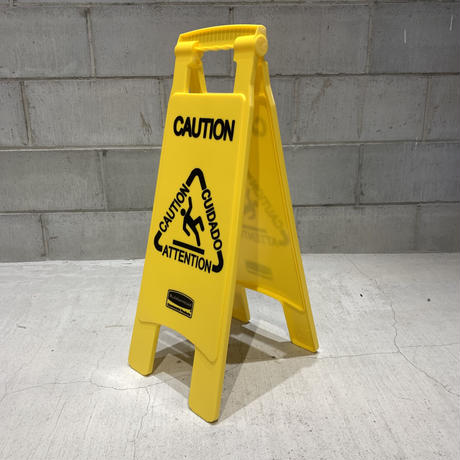 RUBBERMAID CAUTION SIGN  Made in USA