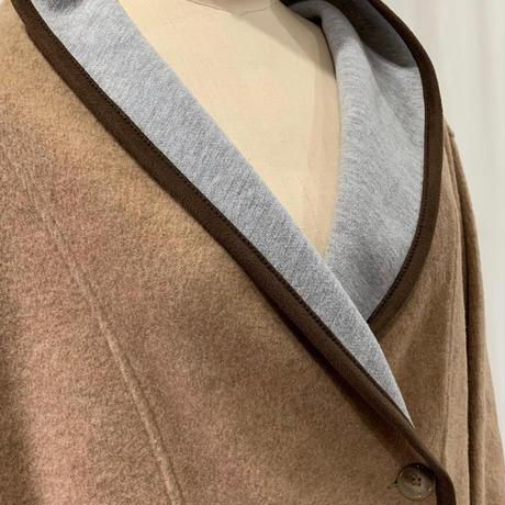 ウールボンディング変形襟COAT