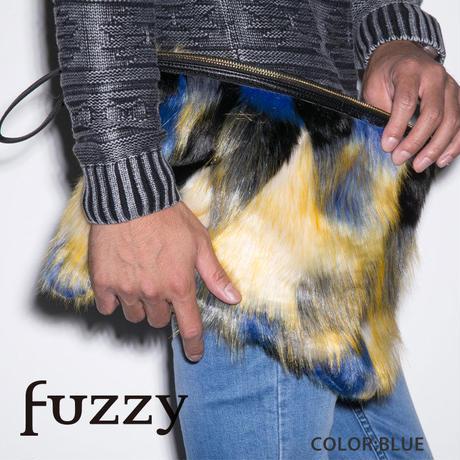 fuzzy  カラーリアルファークラッチバック