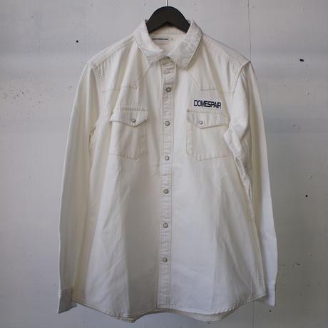 DOMESPAIR White Denim Shirts ドメスペアー ホワイトデニムシャツ