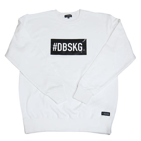 DBSKG BOX-LOGO LIGHT CREW SWEAT WHITE