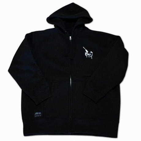 Fork Eye-ZIPHOOD BLACK